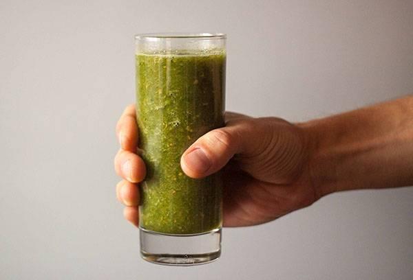 Смузи с зеленой гречкой