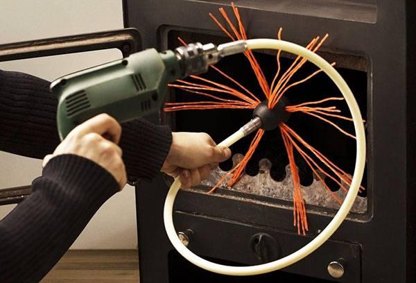 Роторный инструмент для чистки дымохода