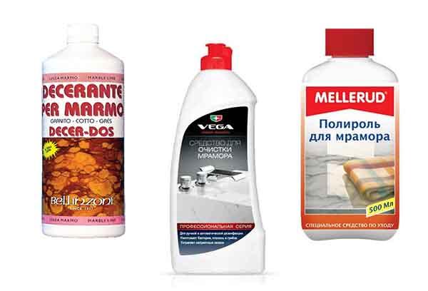 Специальные средства для литьевого мрамора
