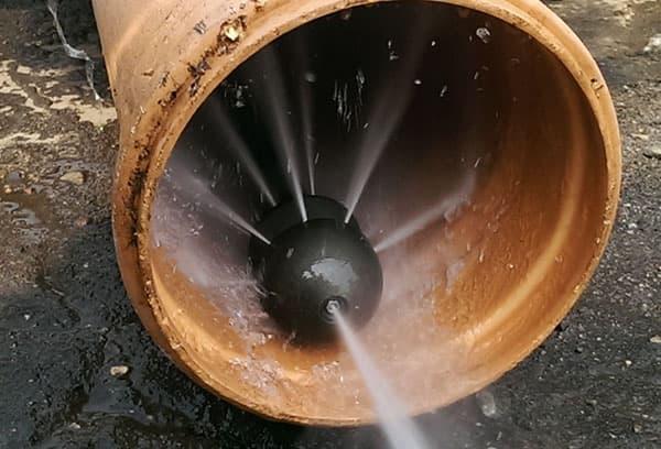 Форсунка гидродинамической машины для чистки канализации
