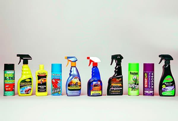 Промышленные средства для очистки автомобиля