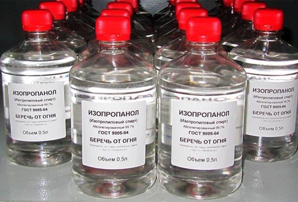 Фасовка изопропилового спирта