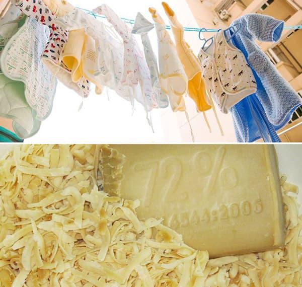 Стирка детских вещей хозяйственным мылом