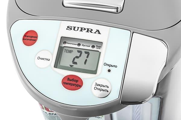 Температура на дисплее термопота