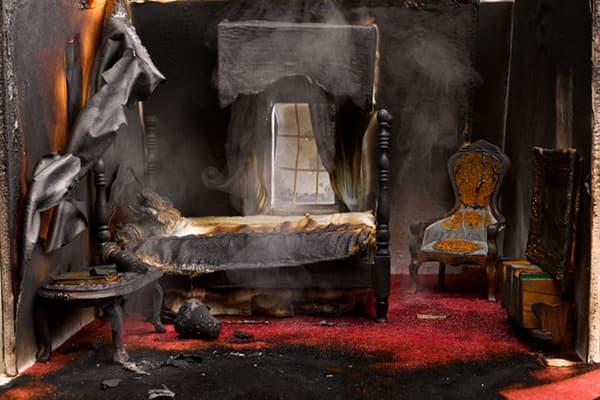 Спальня после пожара