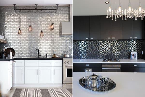 Кухонные фартуки из мозаичной плитки