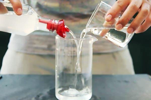 Приготовление раствора уксуса