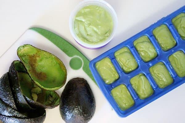 Замороженное пюре авокадо
