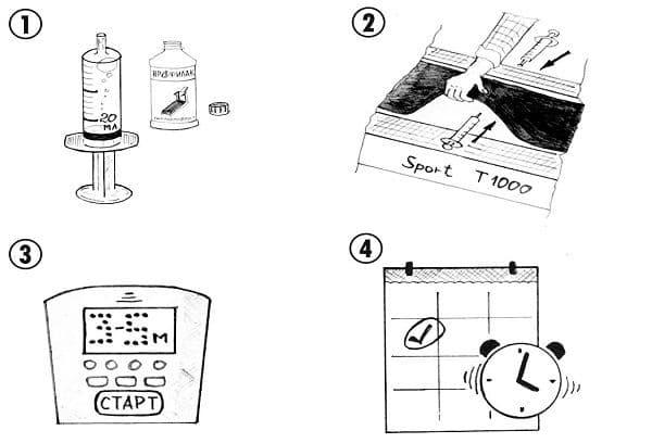 инструкция по смазке беговой дорожки