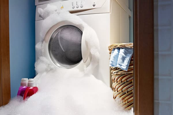 Пена лезет из стиральной машинки