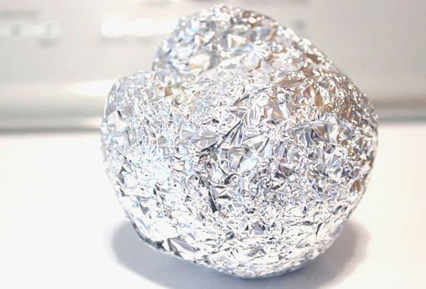мячик из фольги