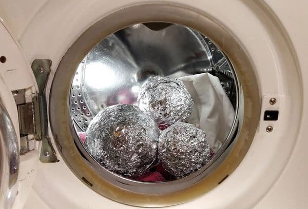шарики из фольги в стиральной машинке