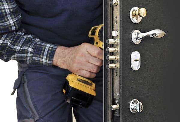 Высверливание замка в дверях