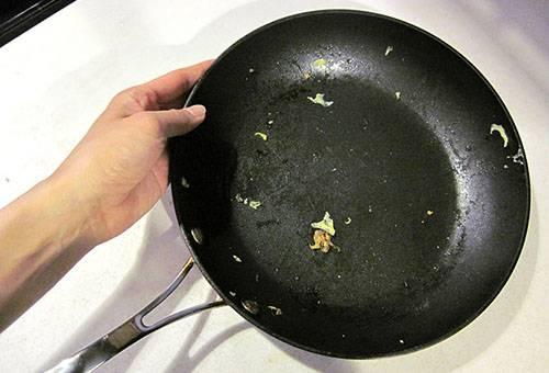 Сковорода после приготовления пищи