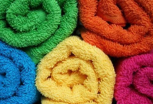 Пушистые махровые полотенца