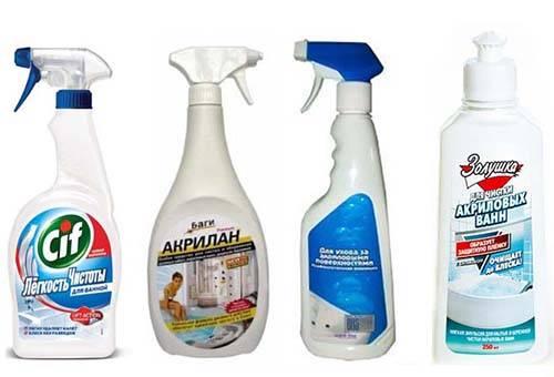 Средства для мытья акриловой ванны
