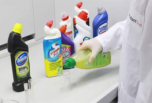Средства бытовой химии для чистки унитаза