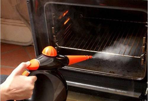 Очищение духовки паром