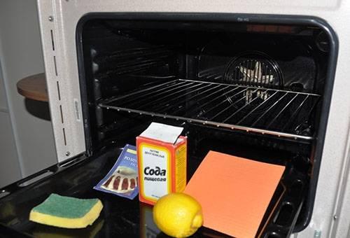 Сода и лимон для чистки духовки