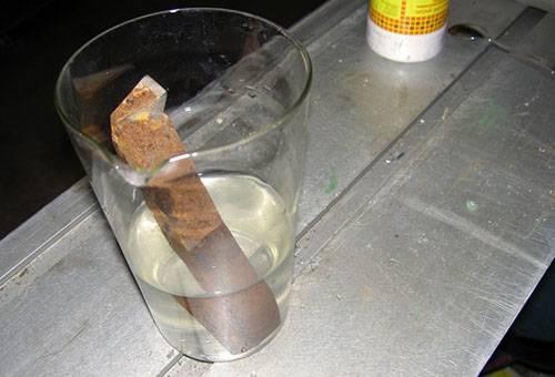 Очистка металлической детали от ржавчины
