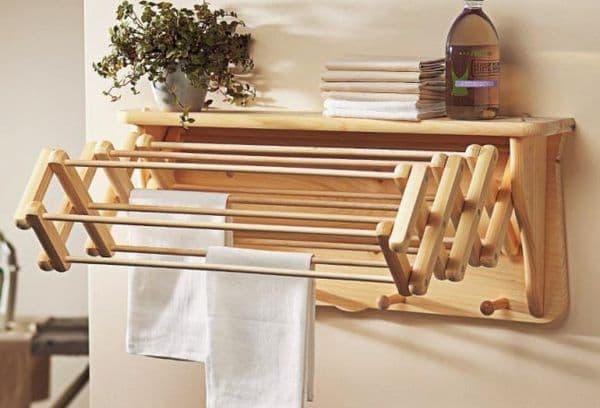 Самодельная деревянная сушилка