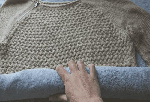 сушка одежды полотенцем
