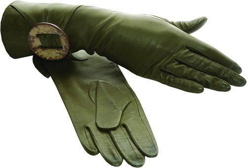 зеленые замшевые перчатки
