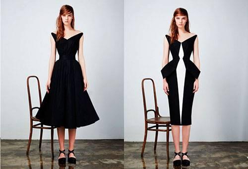 Платье четкой формы