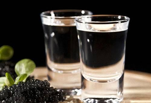 Водка с черной икрой