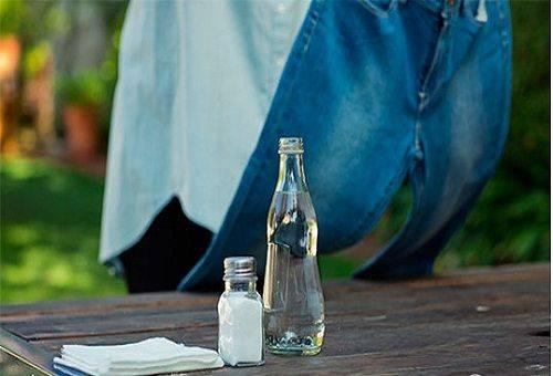 уксус и соль для чистки джинсов