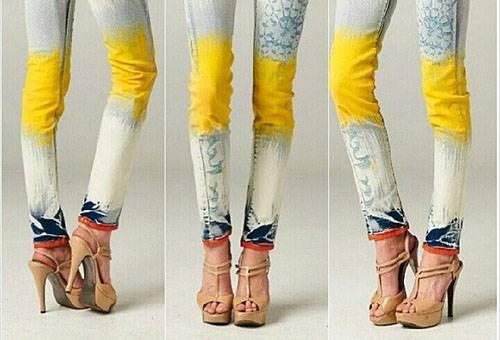 Окрашенные и вываренние джинс