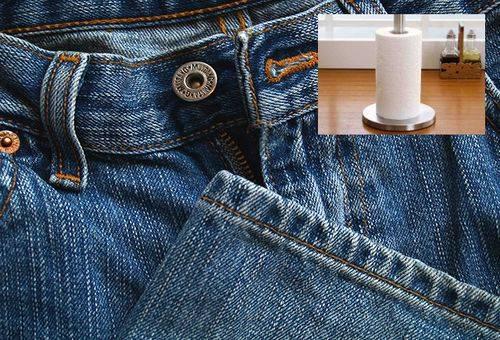 джинсы и бумажное полотенце
