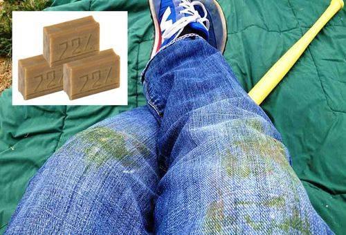 грязные джинсы и хоз. мыло