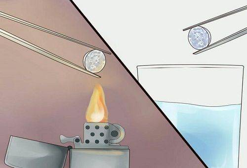 нагревание камня на огне