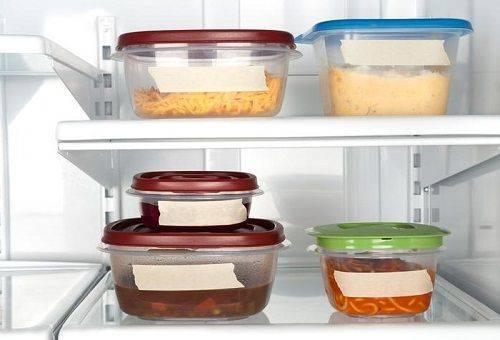 продукты питания в холодильнике