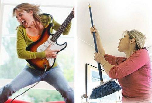 женщину замучил шум от соседки