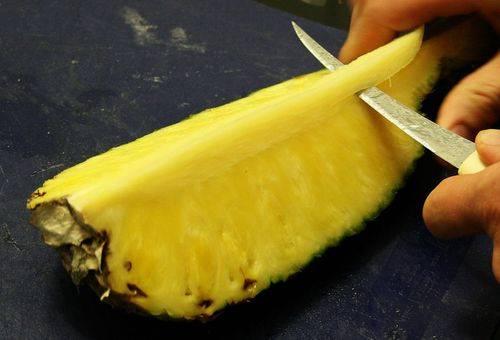 нарезка ананаса - как дыня