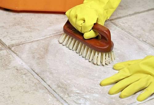 Очистка керамогранита после ремонта