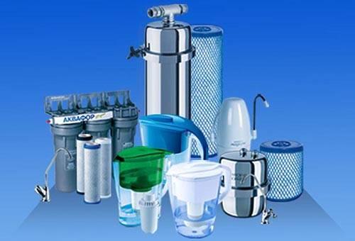 Разные виды фильтров для воды