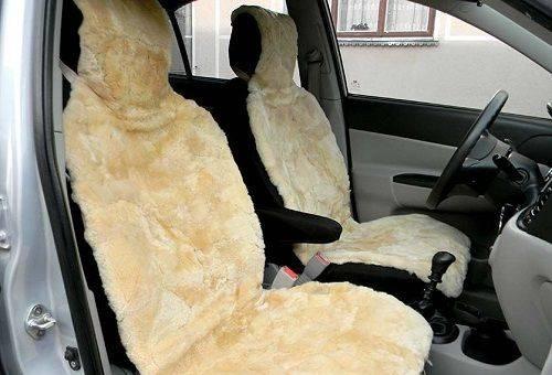 Чехлы на сиденья в машине из овчины