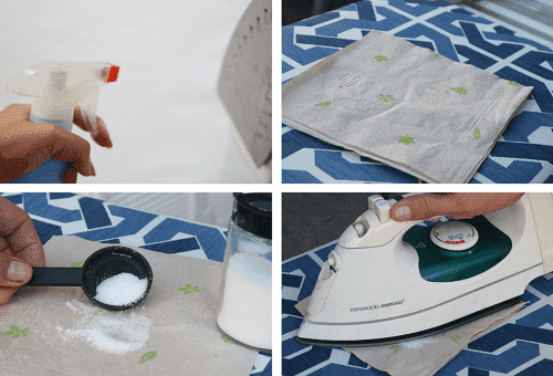 чистка утюга солью