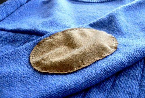 заплатка на локтях свитера