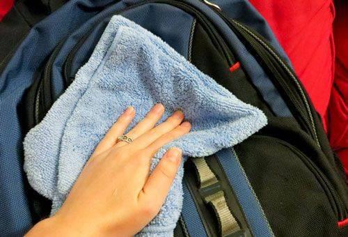 ручная чистка рюкзака