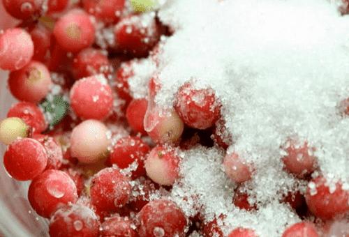 брусника в сахаре