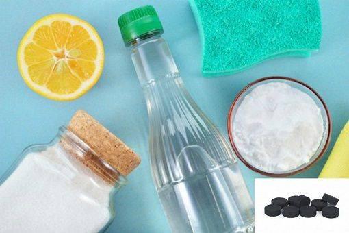 уксус сода и активированный уголь