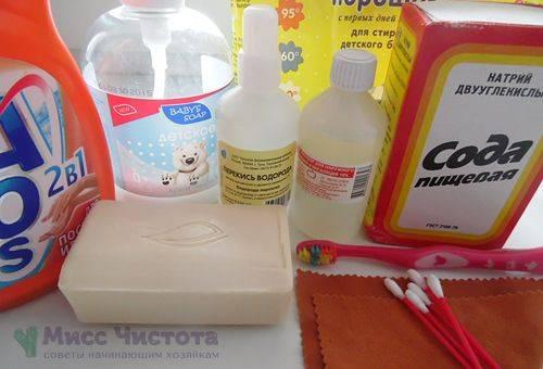 Ингредиенты для чистящего раствора