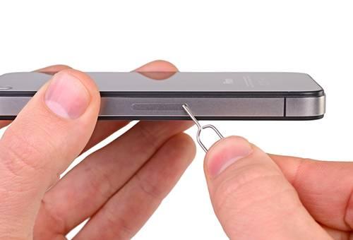Не выдвигается лоток симкарты из айфона