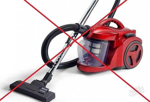 Ртуть нельзя собирать пылесосом