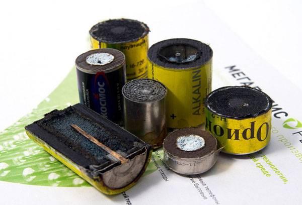 Батарейки в разрезе