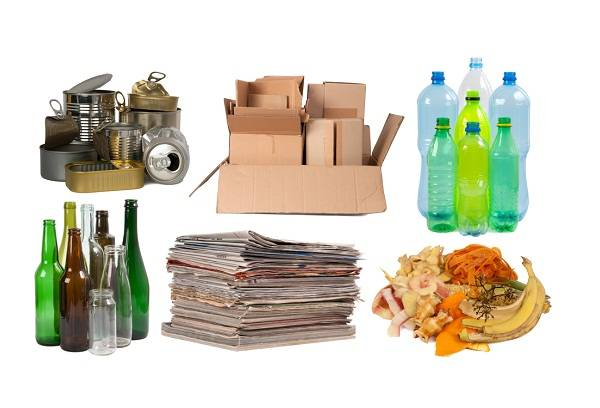 сортированные отходов